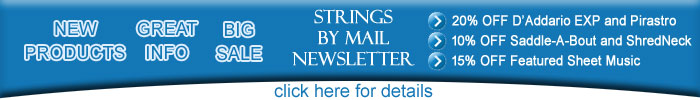 Strings By Mail October 21 Newsletter Discount Sale